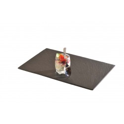 Assiette ardoise rectangle 10x30cm