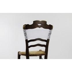 Nœud de chaise - bandeau blanc en dentelle