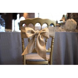 Nœud de chaise en toile de jute