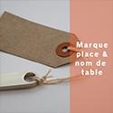 Marque place / Nom de table
